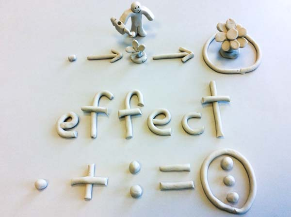 Match Effect shown with clay for dyslexics